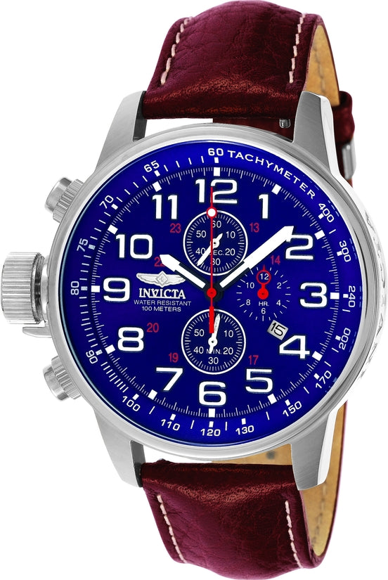 I-Force Men's Leather Blue Dial