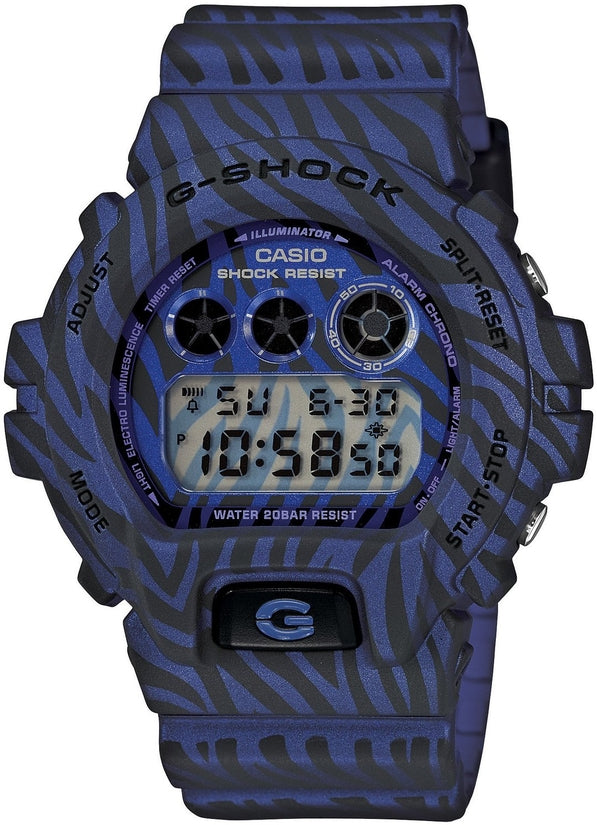 G-Shock DW6900ZB-2 Classic Digital Blue Zebra Resin Strap Mens Watch