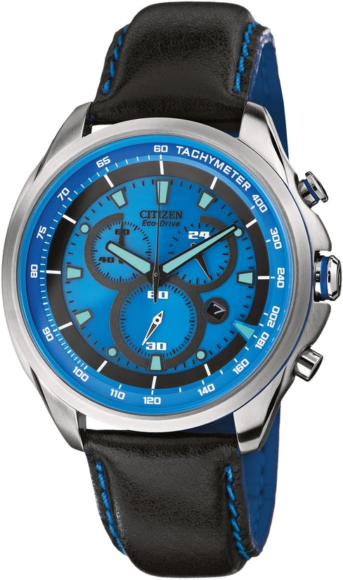 Drive Blue Dial Black Leather