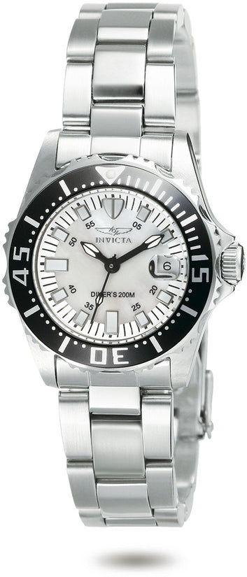 Pro Diver Women's Stainless Steel Mother of Pearl Dial