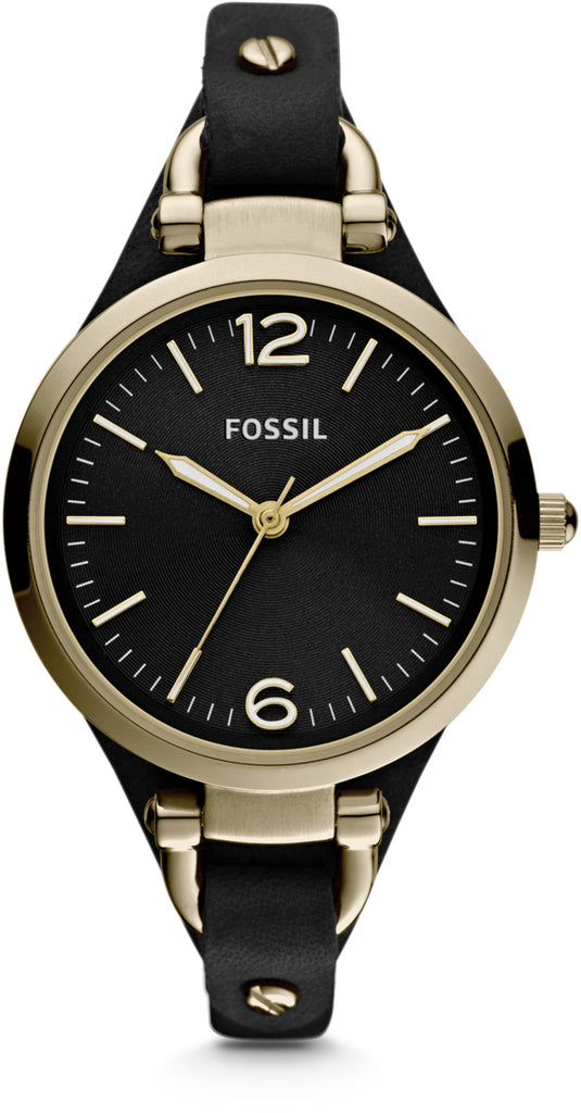 ES3148 Georgia Black Dial Leather Strap Women's Watch