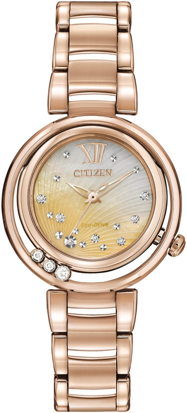 Citizen L Sunrise Diamonds Rose Gold Tone