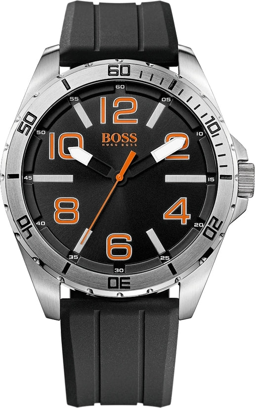 Berlin Men's Black Silicone Black Dial
