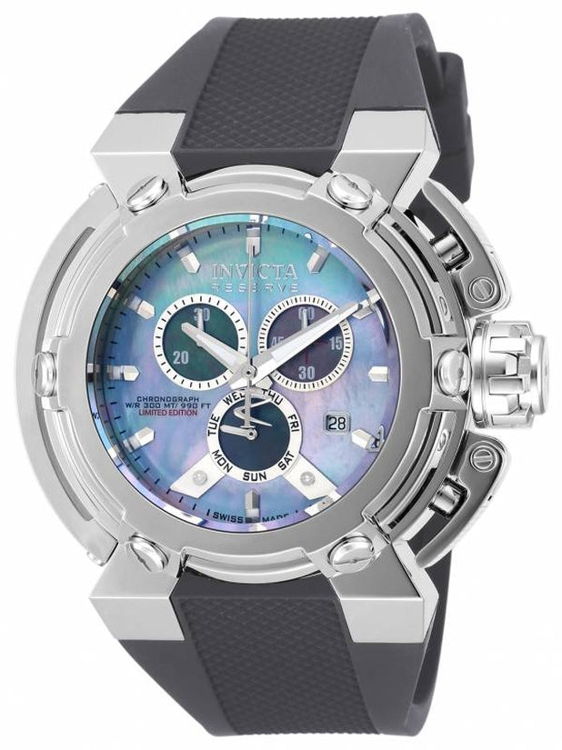 Reserve Men's Polyurethane Mother of Pearl Dial