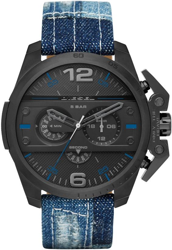 Ironside Chronograph Black Dial Denim Strap