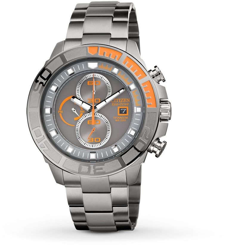 CA0520-53H Chronograph Grey Dial Titanium Strap Men's Watch