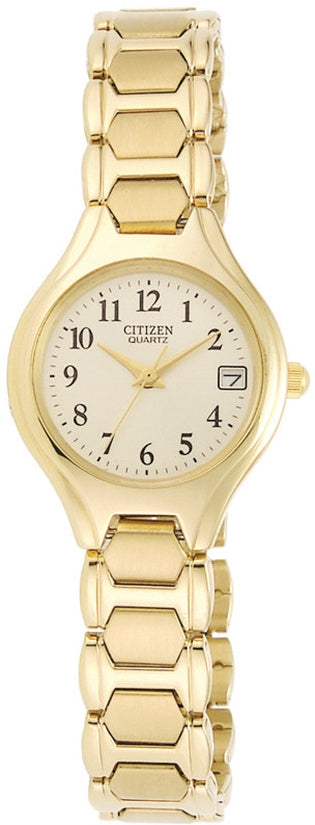 White Dial Analog Gold Tone Stainless Steel Womens Watch EU2252-56P