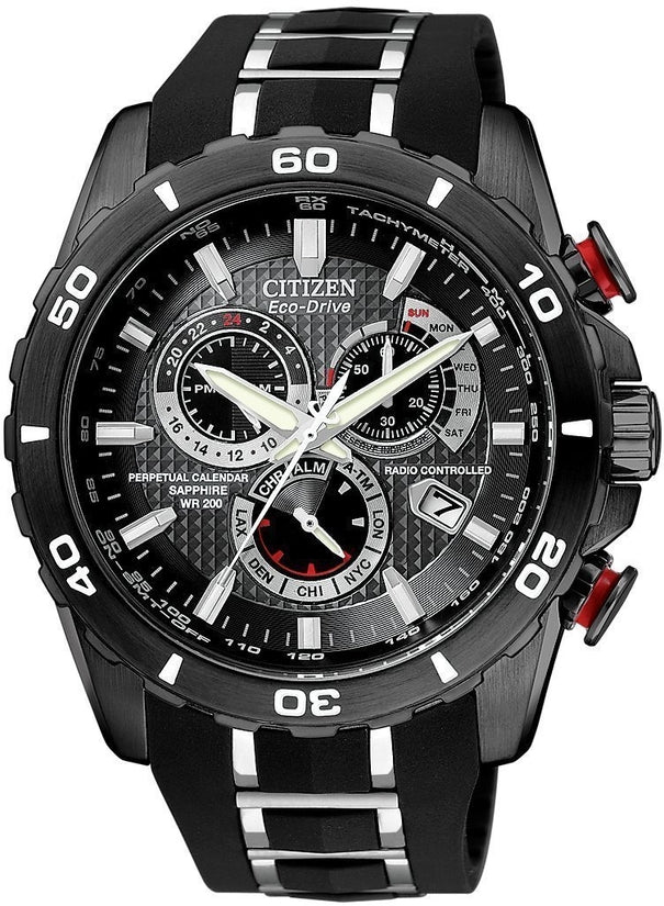 AT4027-06E Perpetual Chronograph Limited Edition Black Dial Rubber Strap Men's Watch