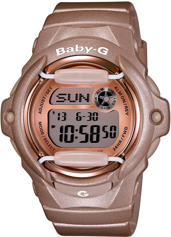 Baby-G BG169G-4 Pink Champagne Digital Resin Womens Watch