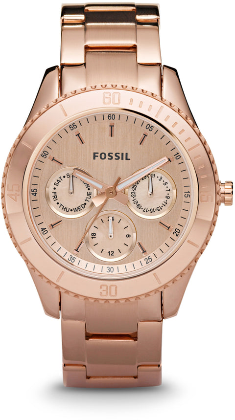 ES2859 Stella Chronograph Rose Gold Tone Stainless Steel Strap Women's Watch