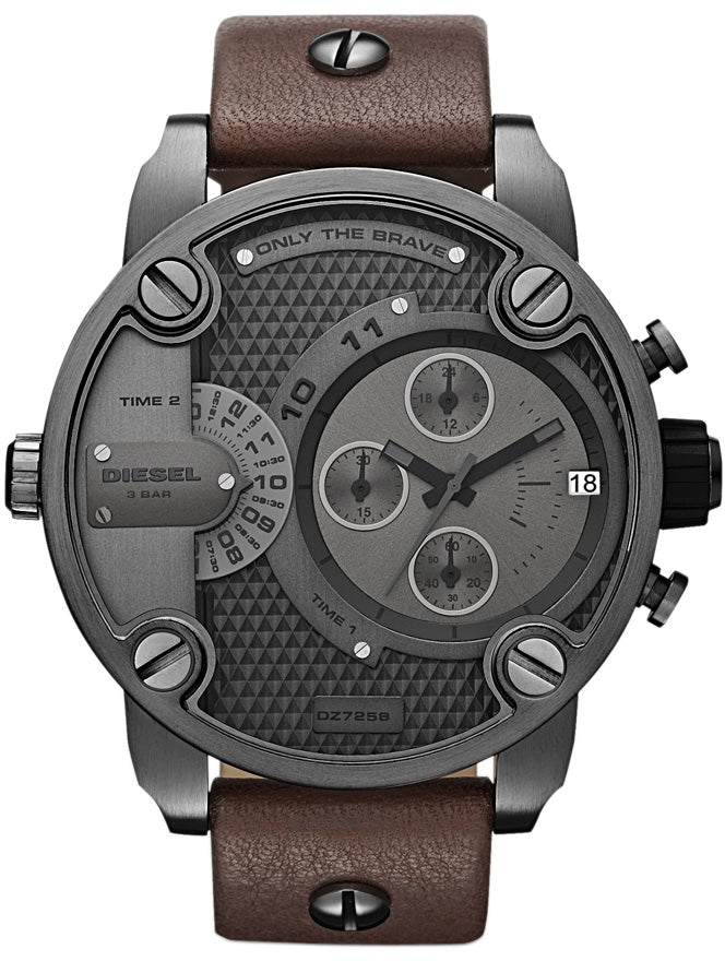 Little Chronograph Daddy Gray Dial Brown Leather