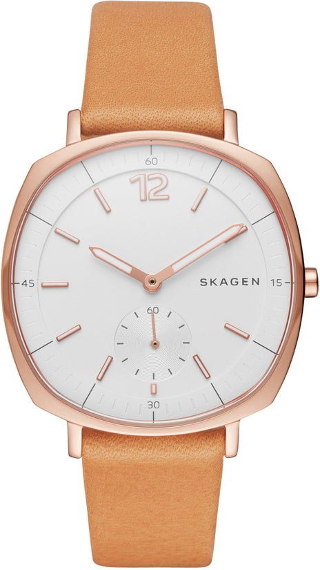 Rungsted Tan Leather White Dial
