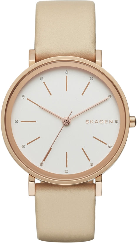 Hald Beige Leather White Dial