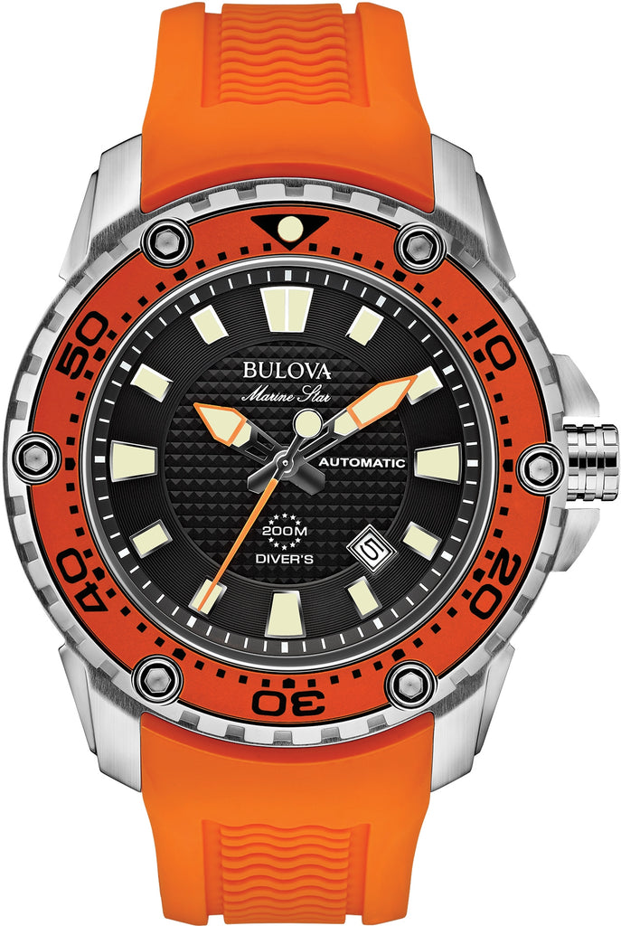 Marine Star Automatic Orange Rubber 200m