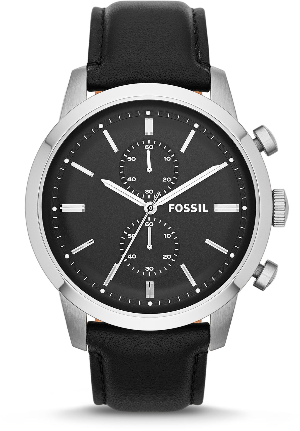 Townsman Chronograph Black Dial & Leather
