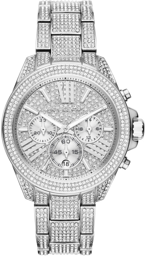 Wren Chronograph Crystal Accented Silver Tone