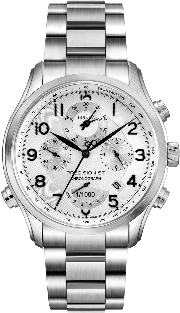 Precisionist Chronograph White Dial Mens Watch 96B183