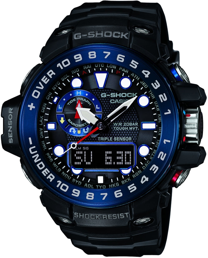 G-Shock GWN1000B-1B Master of G Blue Dial Black Resin Strap Mens Watch