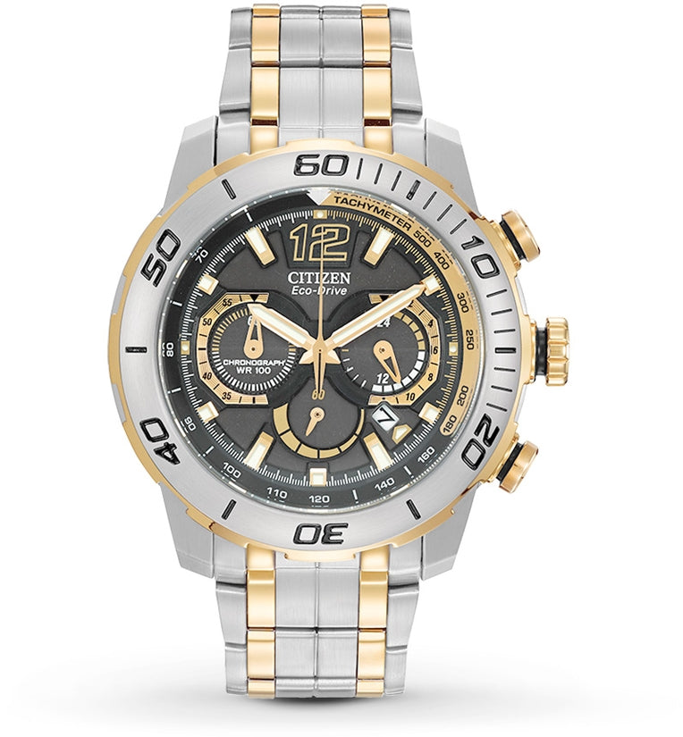 Primo Stingray 620 Chronograph Two Tone Stainless Steel Mens Watch CA4084-51E