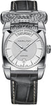 American Classic Men's Grey Leather Strap Silver Dial