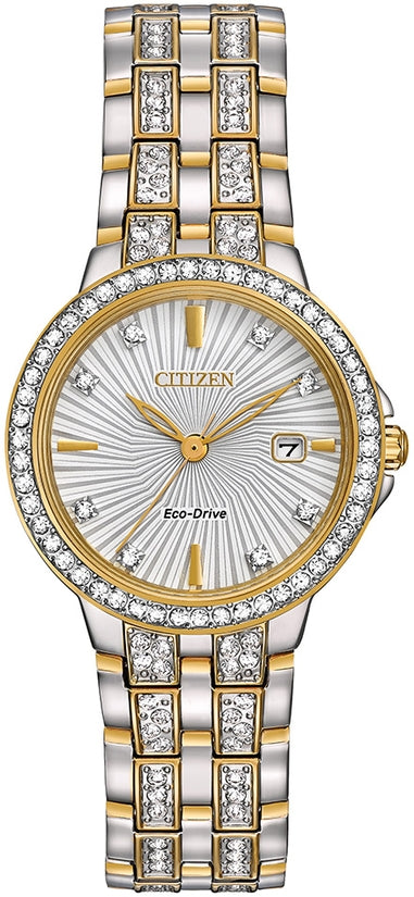 Silhouette Crystal Designed Dial Two Tone
