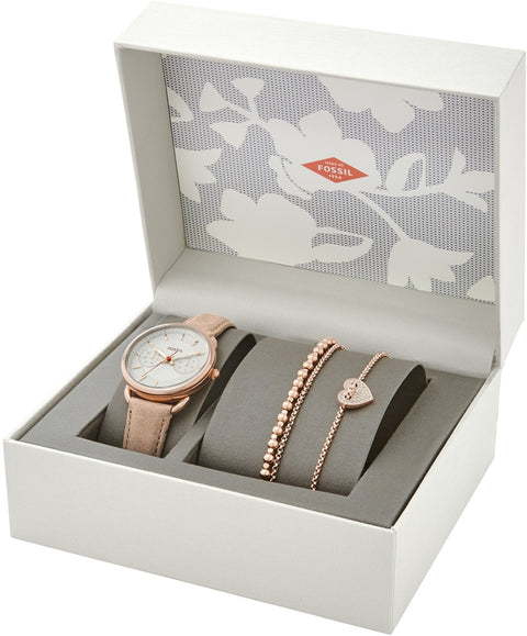Tailor Box Set Sand Leather Watch & 2 Bracelets