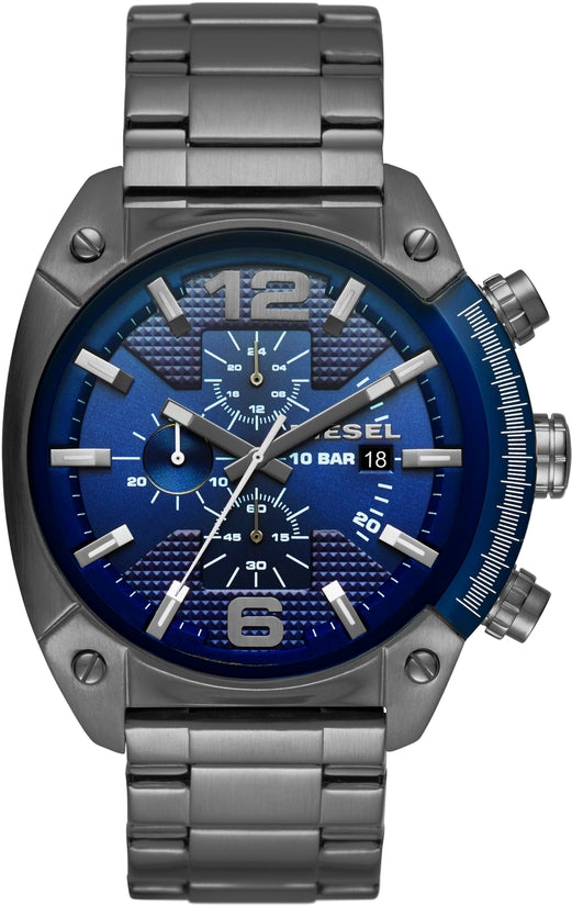 Overflow Chronograph Blue Dial Gunmetal IP