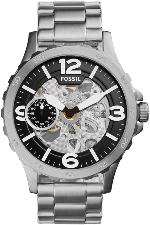 Nate Automatic Black Skeleton Dial