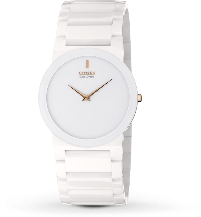 White Ceramic Stiletto Blade Unisex Watch AR3050-52B