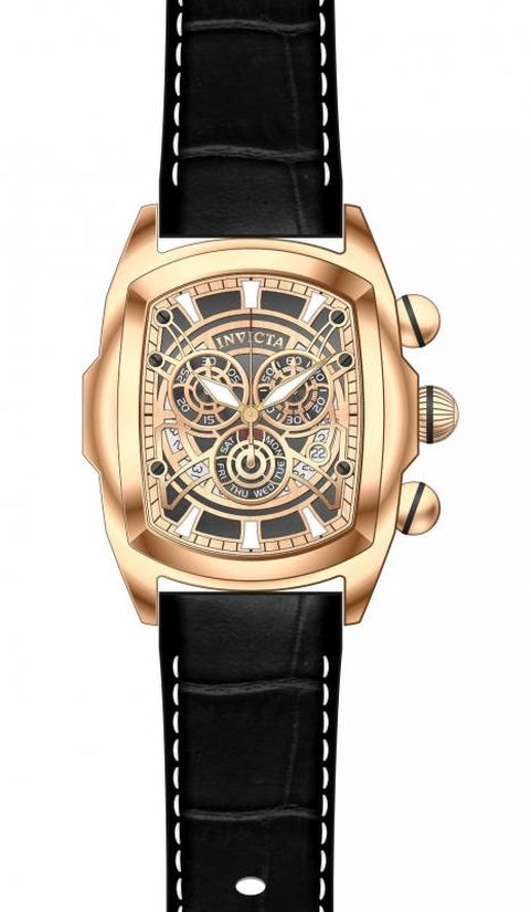 Lupah Men's Leather Rose Gold Dial