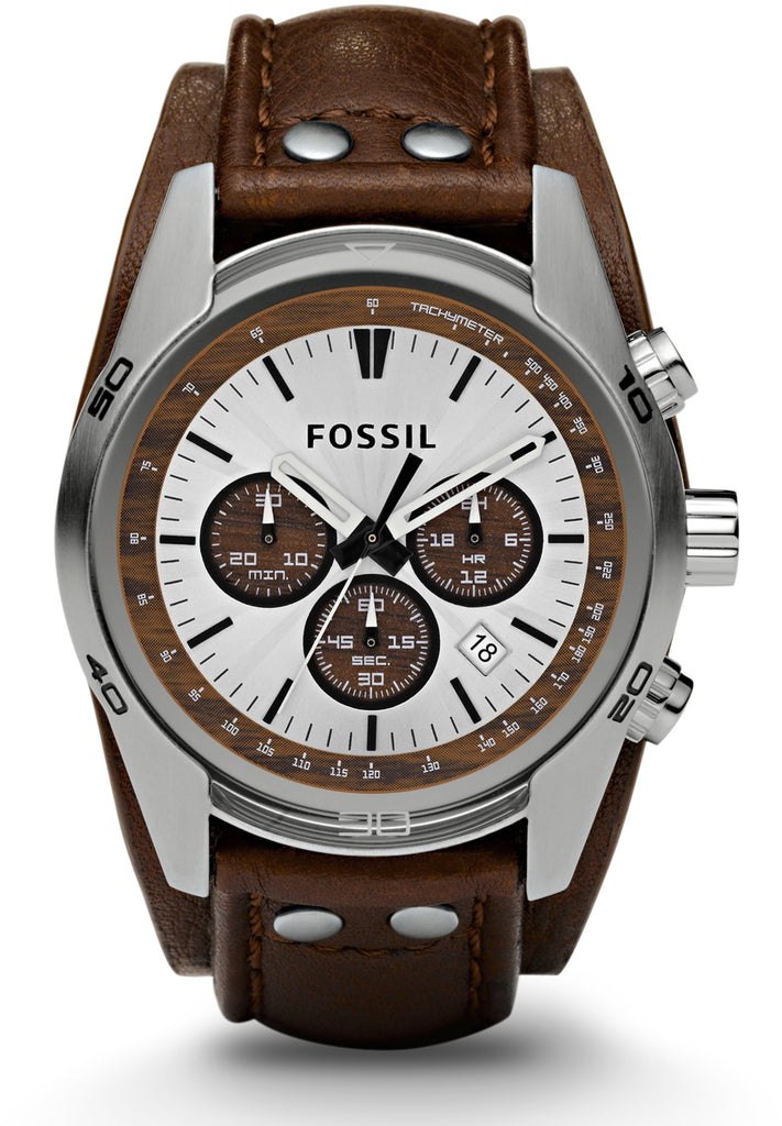 Coachman Chronograph Brown Leather