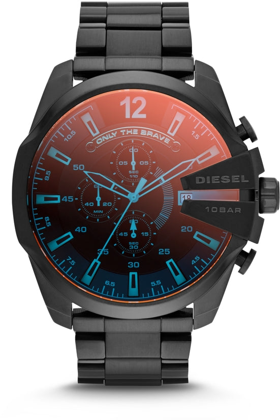 Mega Chief Chronograph Black IP