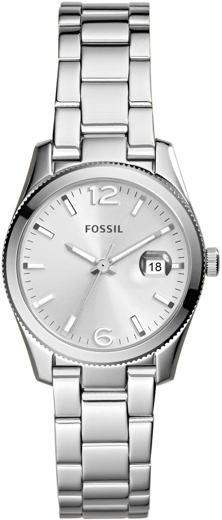 ES3582 Small Perfect Boyfriend Silver Dial Stainless Steel Strap Women's Watch