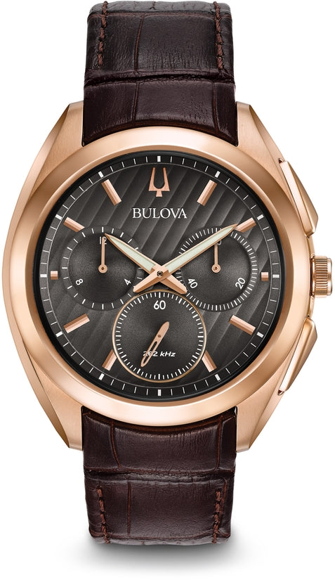 CURV Chronograph Rose Gold Tone Leather
