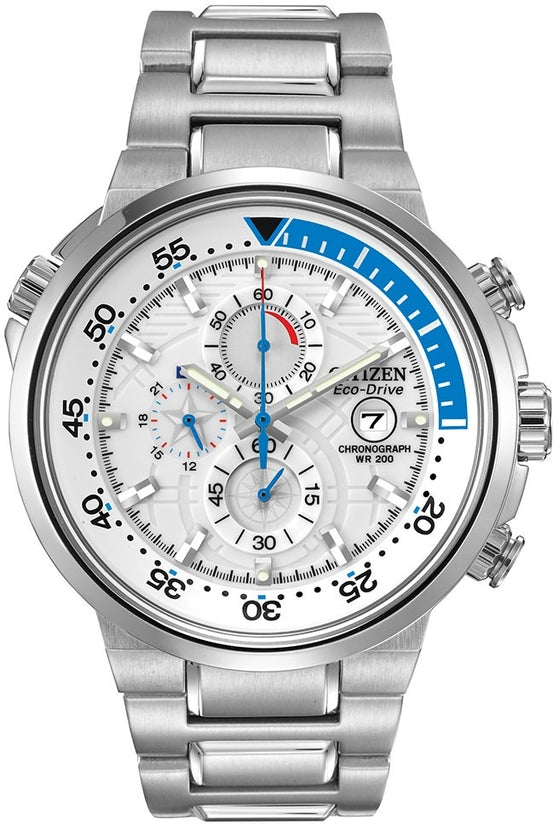 CA0440-51A Endeavor White Dial Stainless Steel Strap Men's Watch