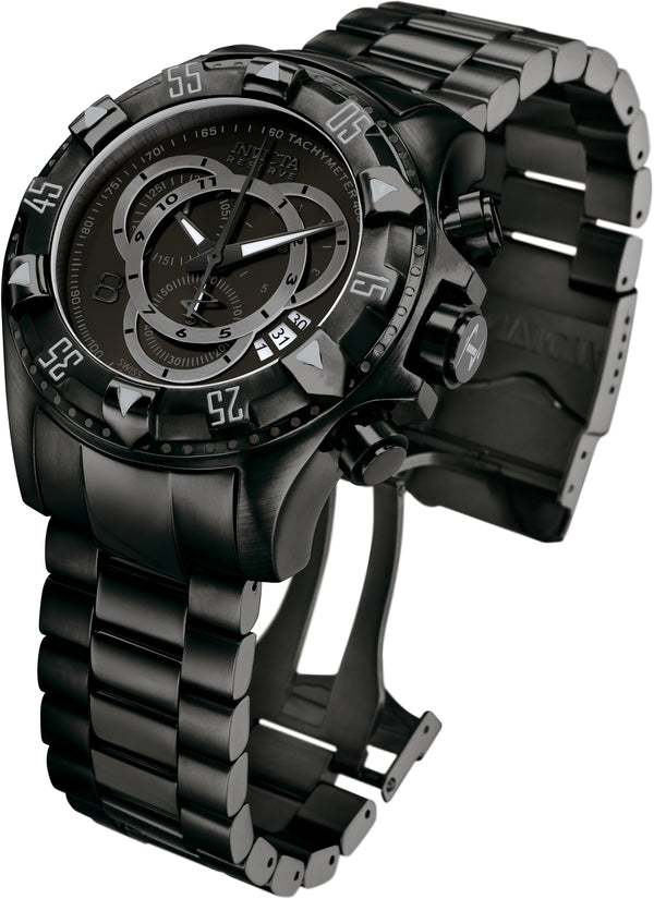 Excursion Men's Stainless Steel Black Dial