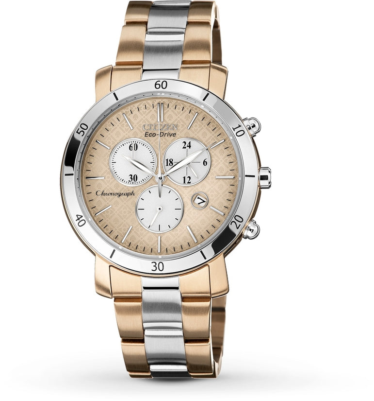 AML 3.0 Chronograph Rose Gold Dial Stainless Steel Women's Watch FB1346-55Q