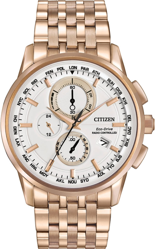 World Chronograph A-T Rose Gold Tone