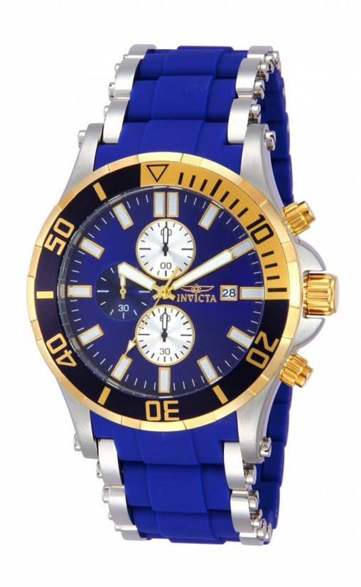 Sea Spider Men's Polyurethane/Stainless Steel Blue Dial