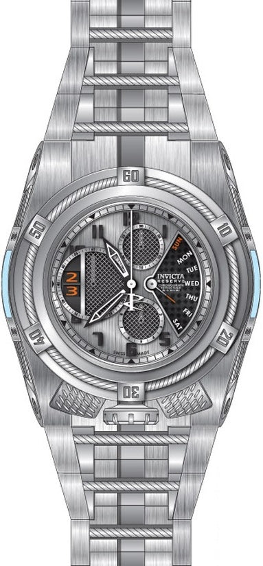 Bolt Men's Stainless Steel Silver Dial