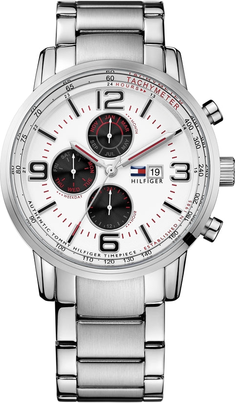 Multifunction Silver Tone White Dial
