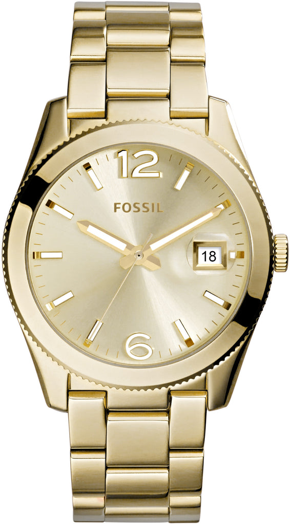 ES3586 Perfect Boyfriend Gold Tone Case Stainless Steel Strap Women's Watch