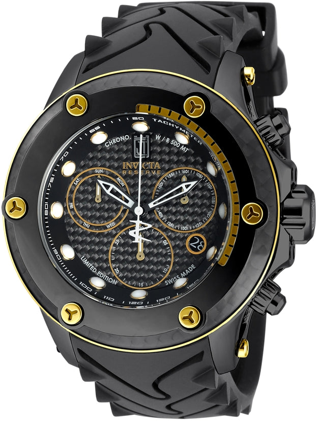 Jason Taylor Men's Polyurethane Black Dial