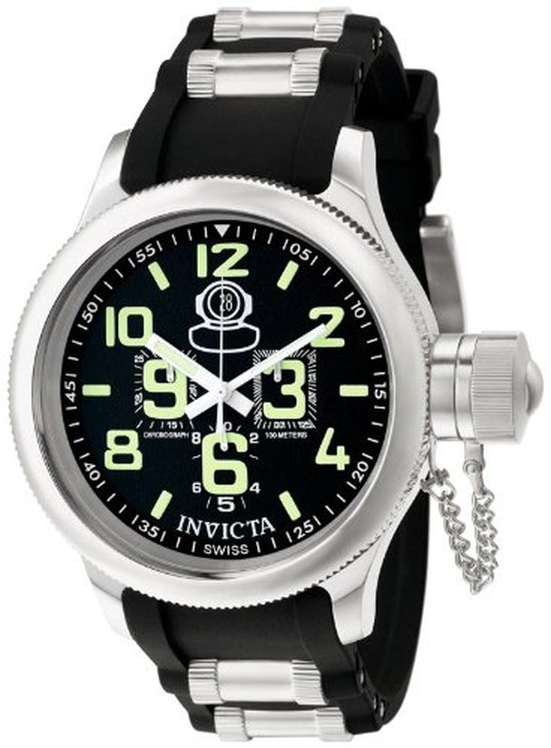 Russian Diver Men's Polyurethane Black Dial