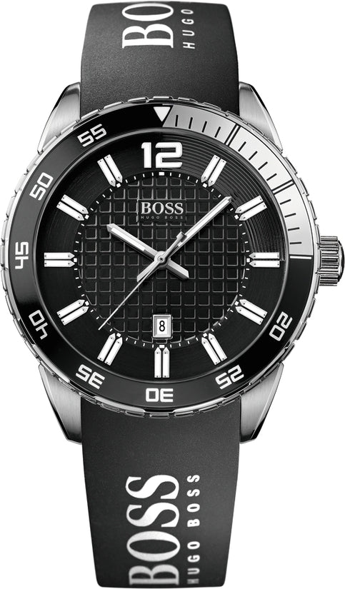 Deep Blue Men's Black Silicone Black Dial