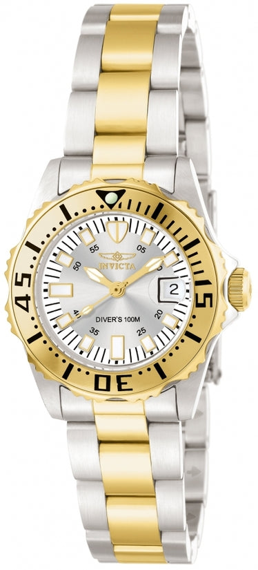 Pro Diver Women's Stainless Steel Silver Dial