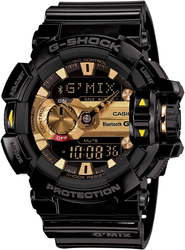 G-Shock GBA400-1A9 Classic Series Gold Dial Resin Strap Mens Watch
