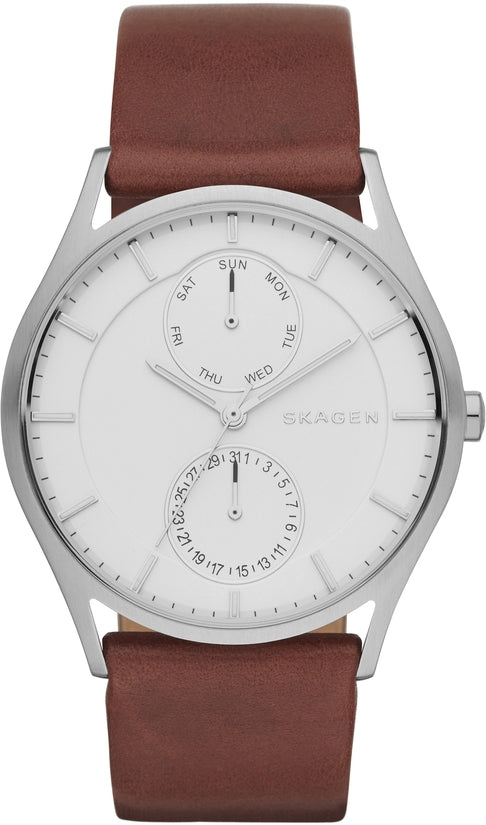 Holst Multifunction White Dial Brown Leather