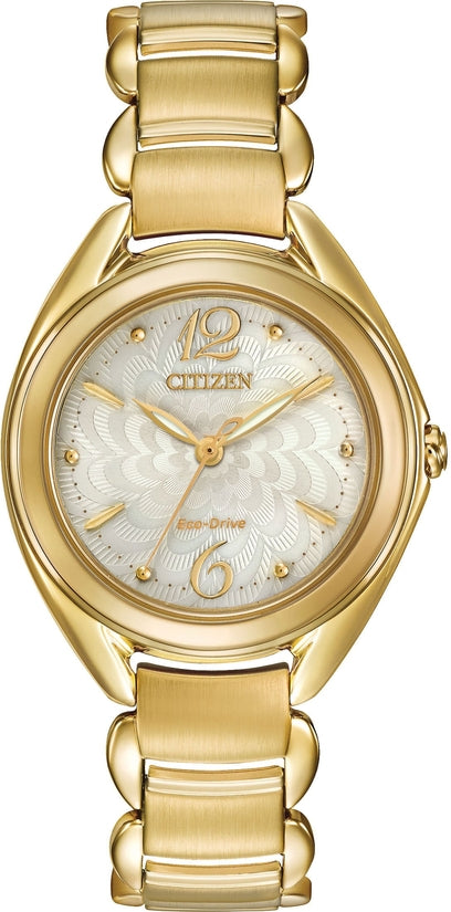 Citizen L Gold Tone Sapphire Crystal