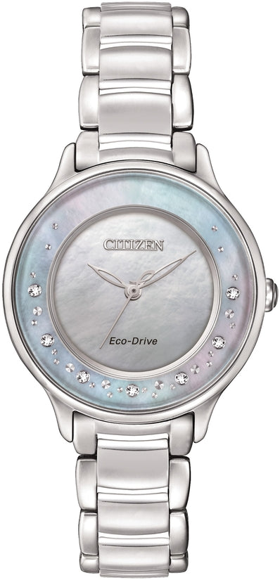 Citizen L Circle Of Time Diamonds Silver Tone